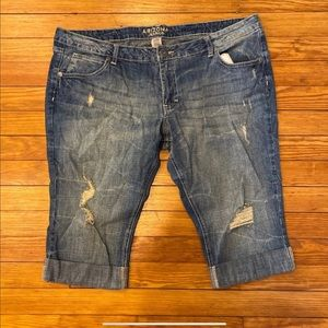 Women's Arizona Jean Co Distressed Jean Shorts